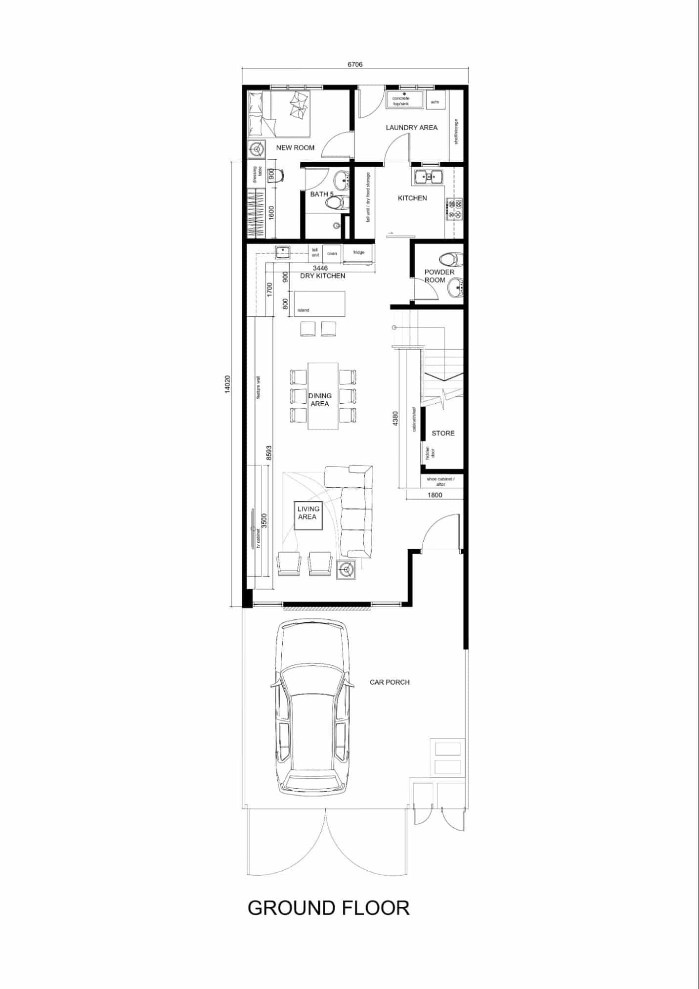 Ground floor plan hermoso residences kuantan interior design