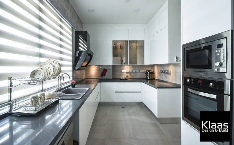 Modern light-filled kitchen monochrome color palette kitchen design