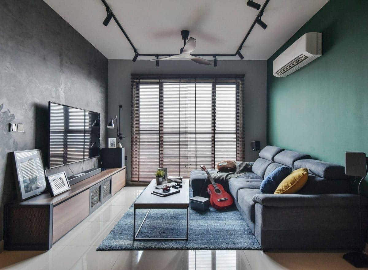 living room design by cube asia design