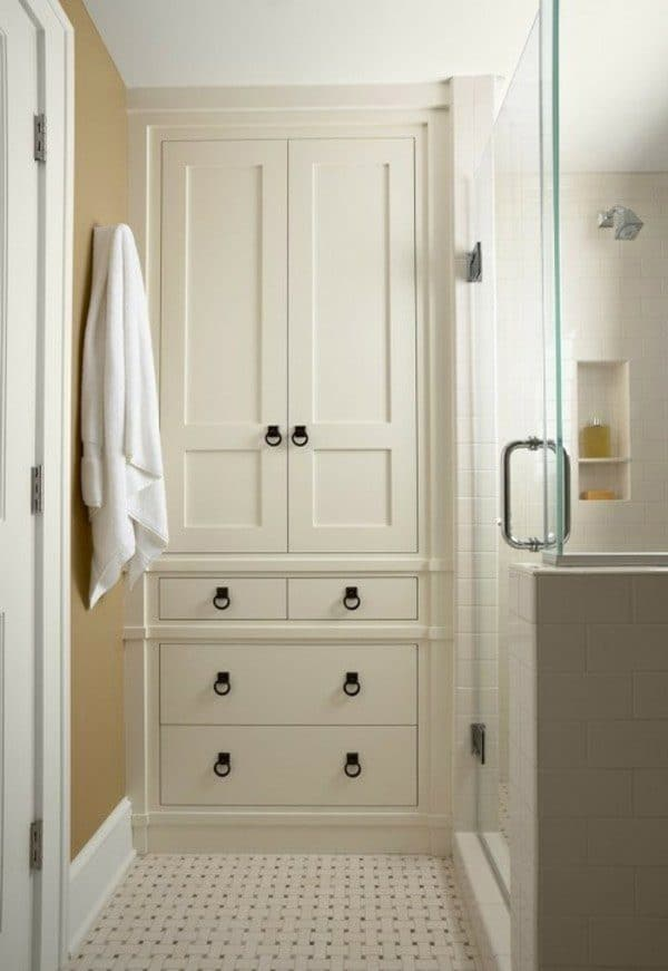Full-height bathroom cabinet