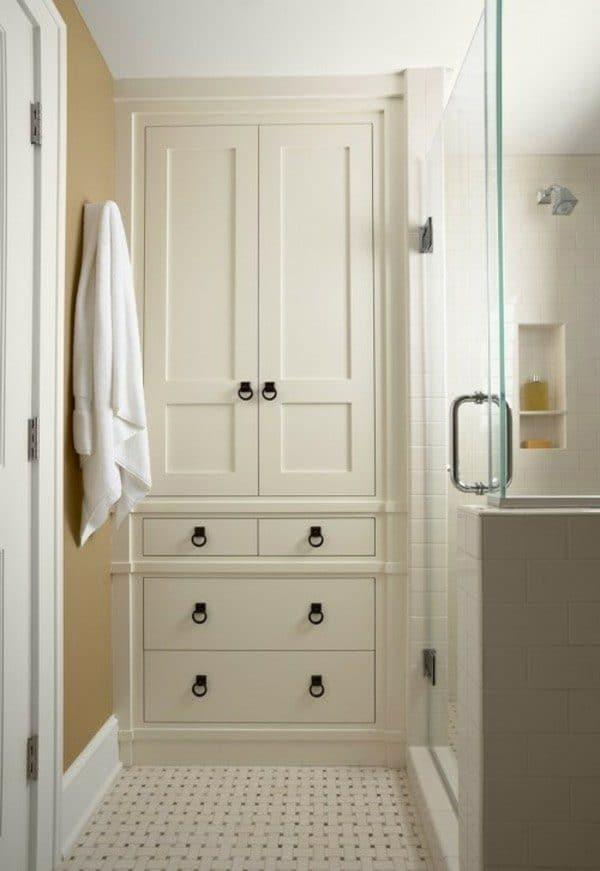 Full-height bathroom cabinet