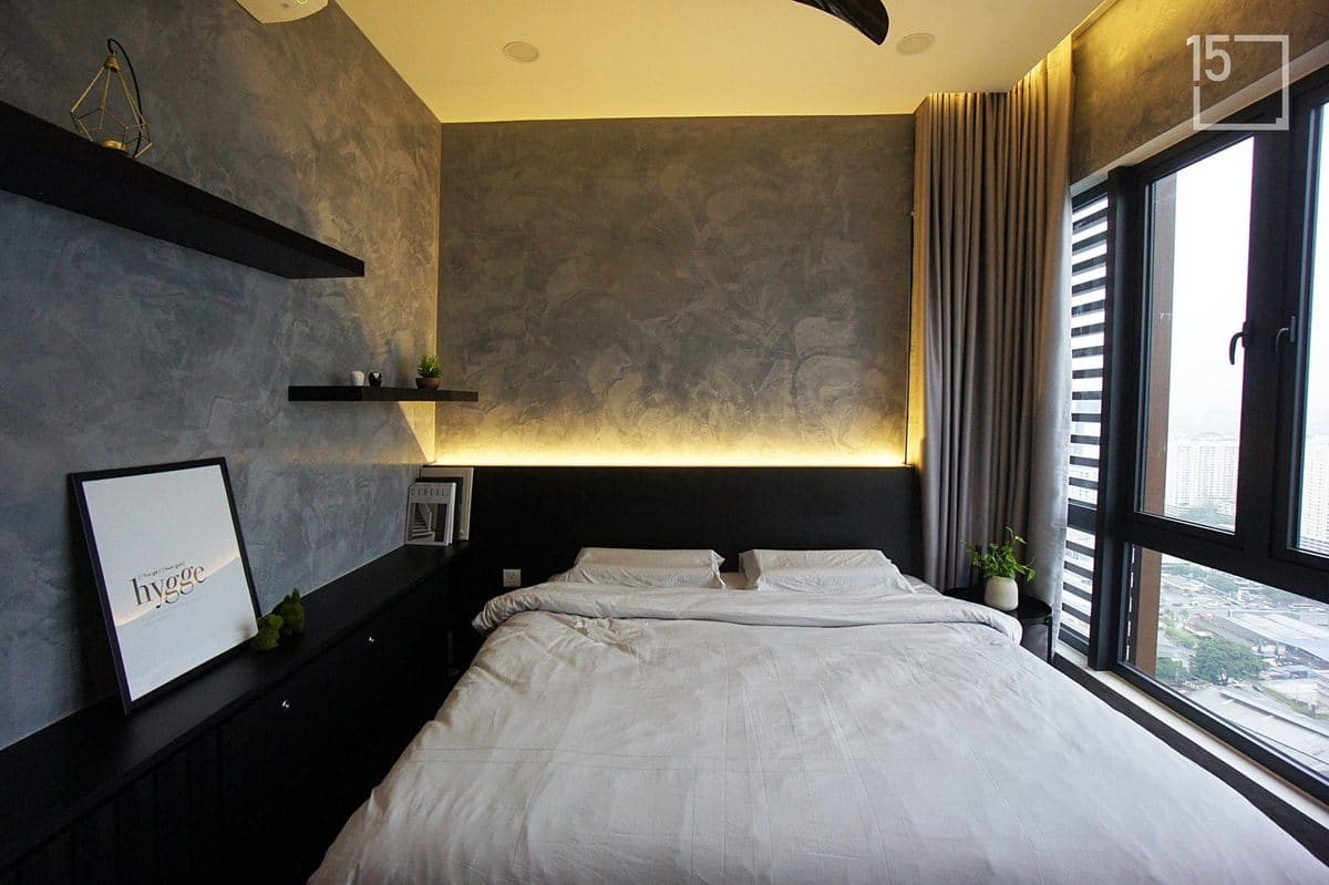 bedroom industrial style design malaysia by fifteen interior design