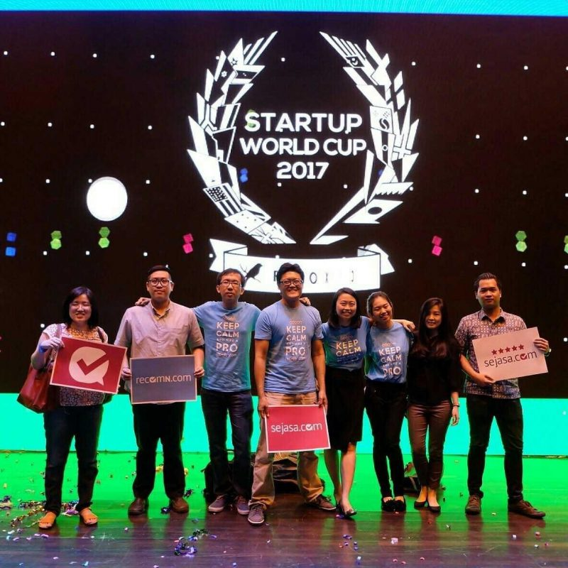 Becoming a finalist in the Startup World Cup, Jakarta, Aug 2016