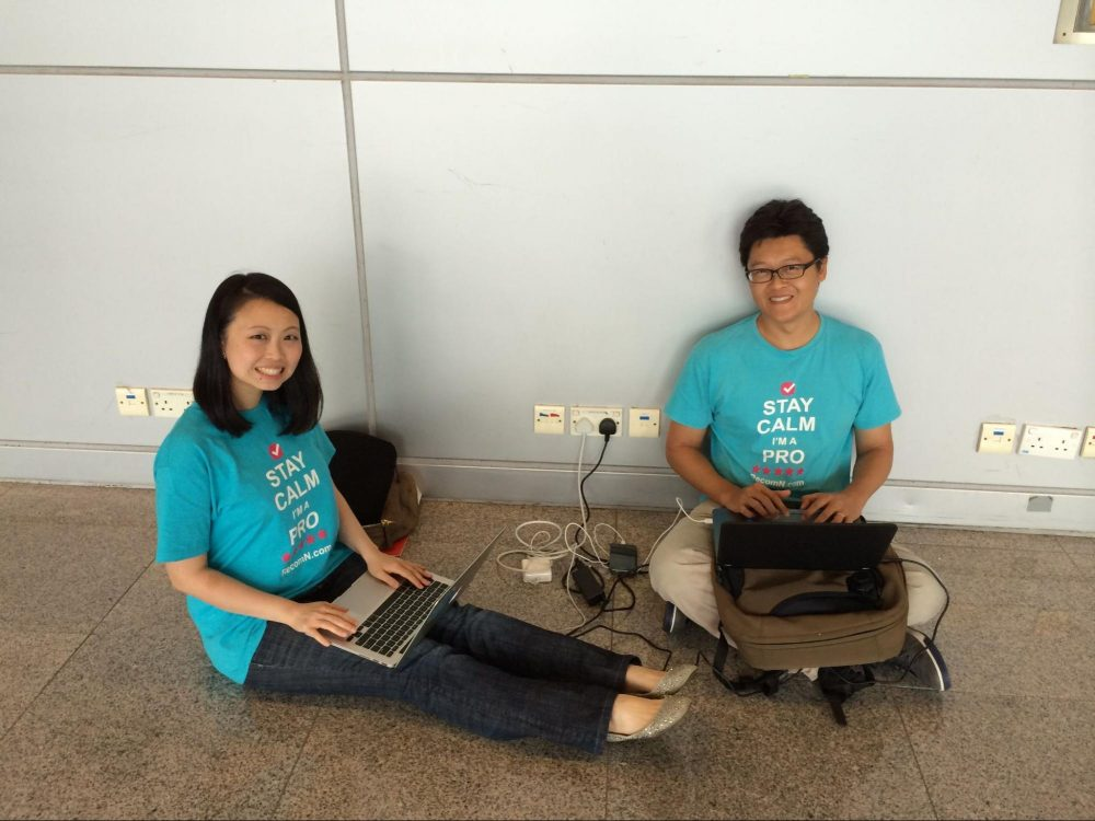 Getting ready for a roadshow. As long as there's a plug point, we can work! Singapore, June 2016
