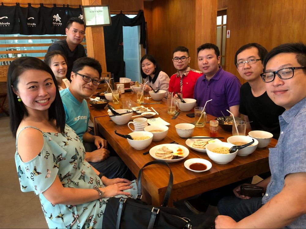 Catching up with pioneer team members in Sejasa.com, Jakarta, Feb 2018