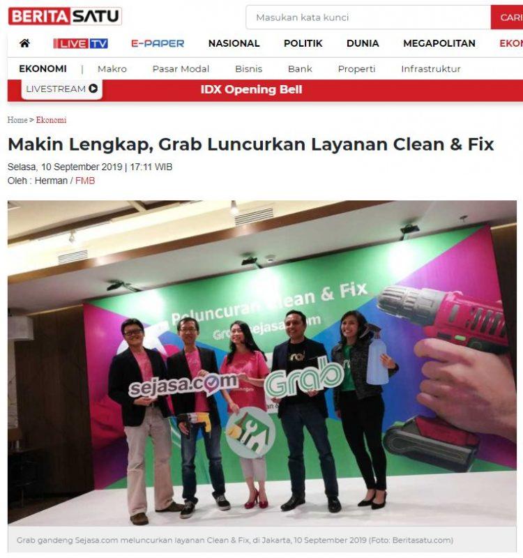 Launching our partnership with Grab Indonesia. Source: Berita Satu, Jakarta, Sep 2019
