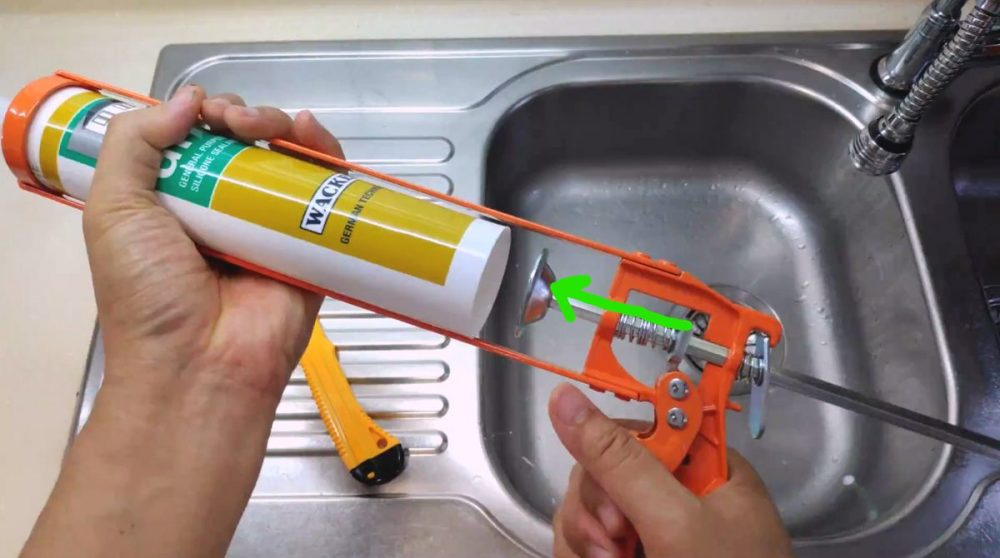 Load the tube and squeeze the trigger a few times until the plunger is seated nicely inside the tube and ready to push the sealant out