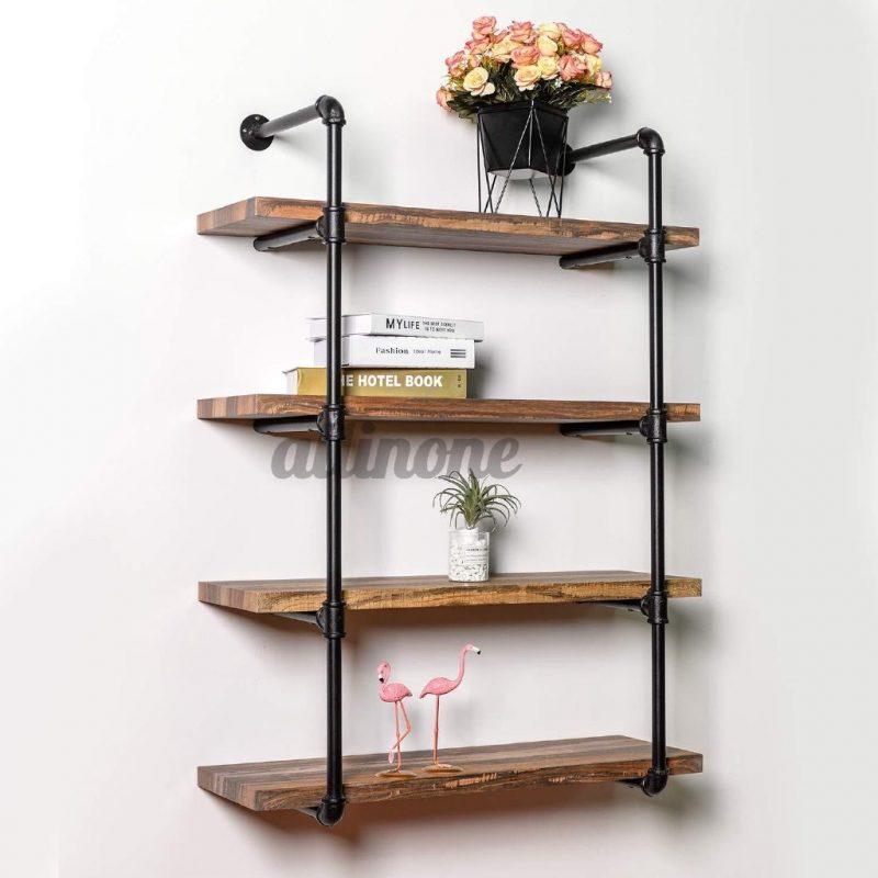 Pipe wall shelf bracket RM128