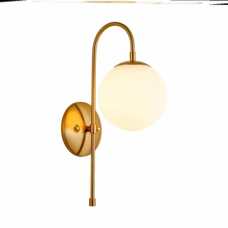 Minimalist wall lamp ball style RM62