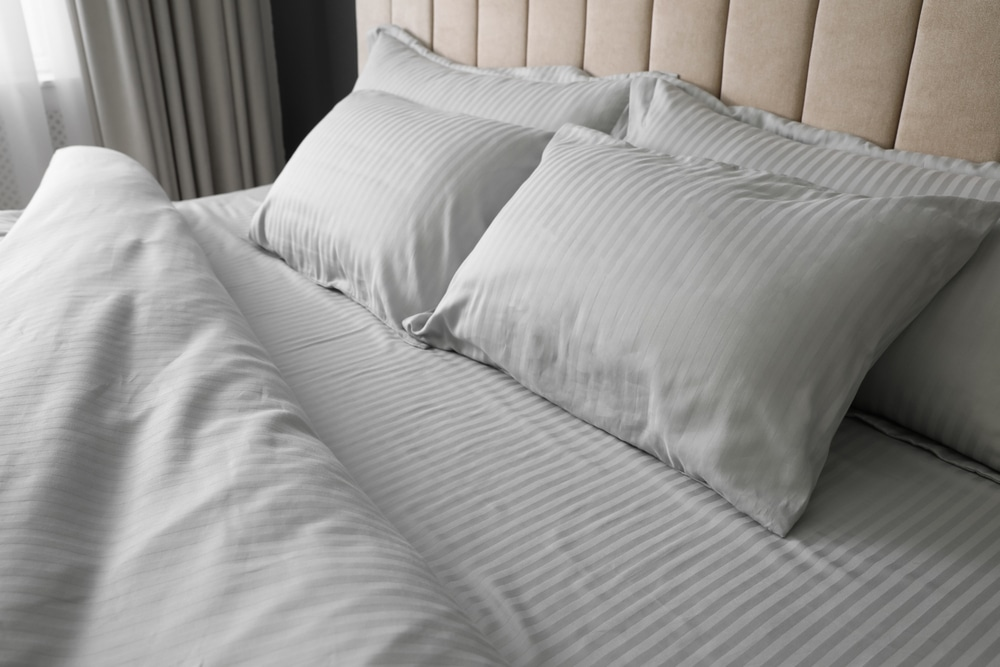 Cotton bed sheets are good for restful sleep